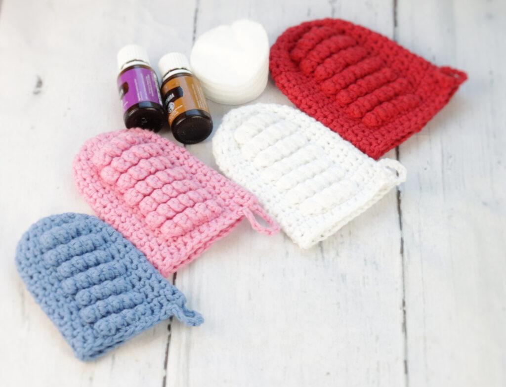 Crochet Face Scrubbbie Mitts