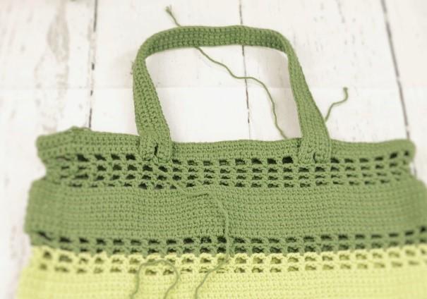 Eco friendly market bag-sewing handles