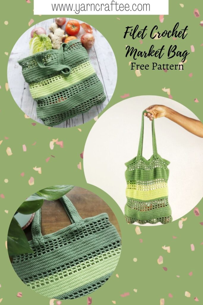 Filet Crochet market bag pattern