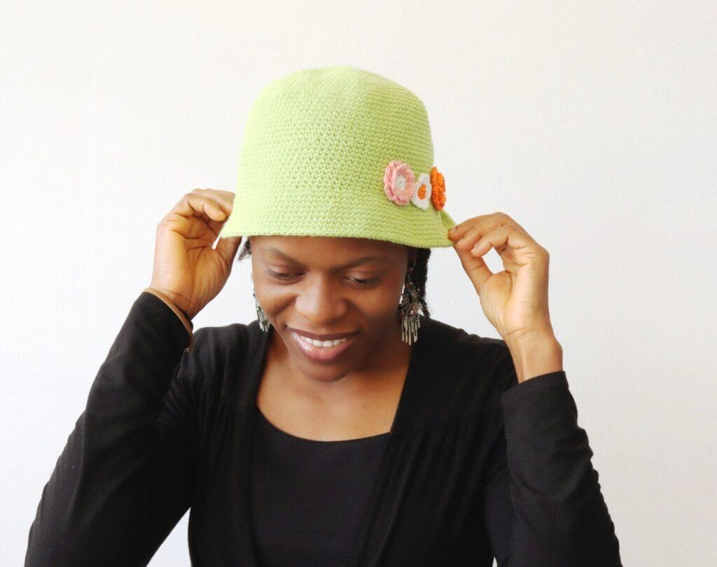 Pretty in Spring Crochet Bucket hat