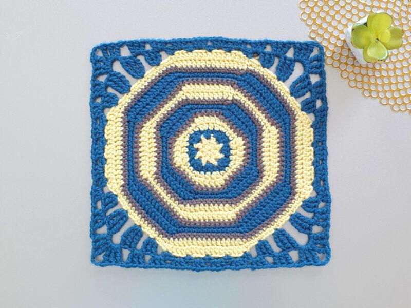 12 inch Crochet Octagon Square