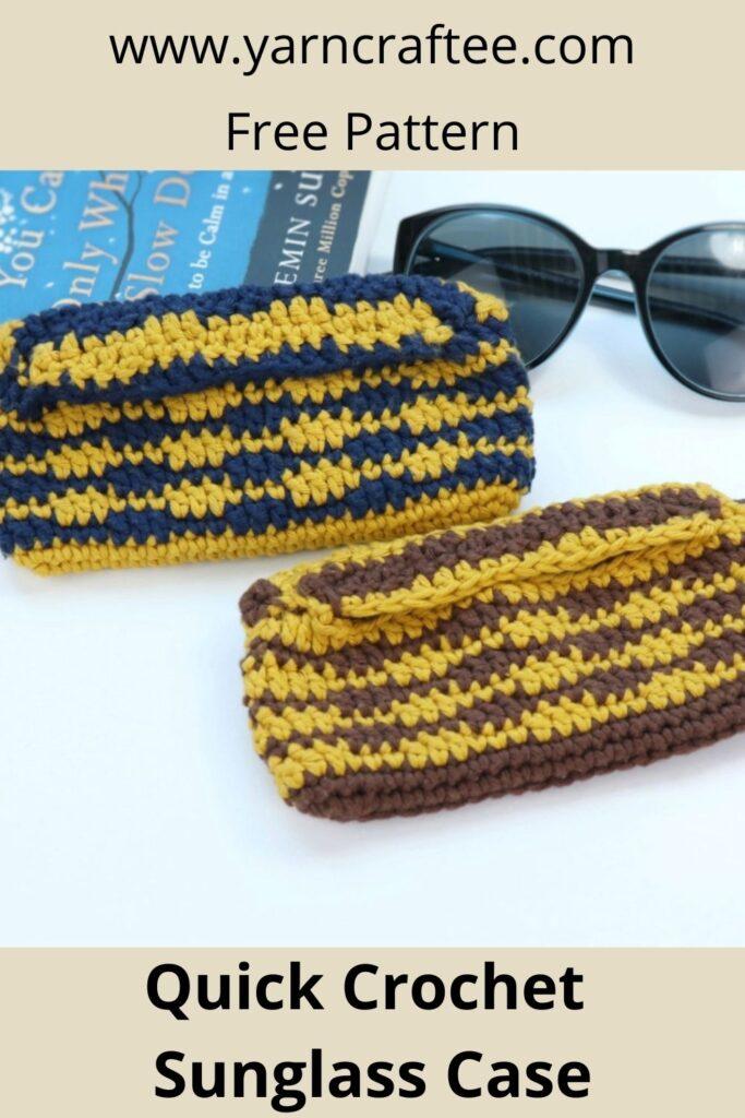 Quick Crochet Sunglass Case