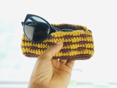 Summer Crochet Wavy sunglass case