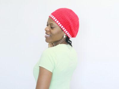 Gender Neutral V-stitch Crochet Hat Pattern