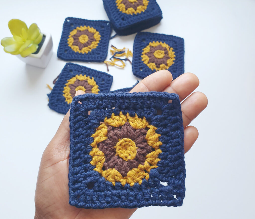 In Bloom Crochet Square Motif
