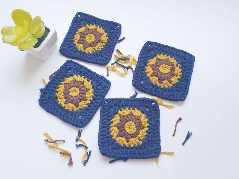 Mini Crochet Square Motif