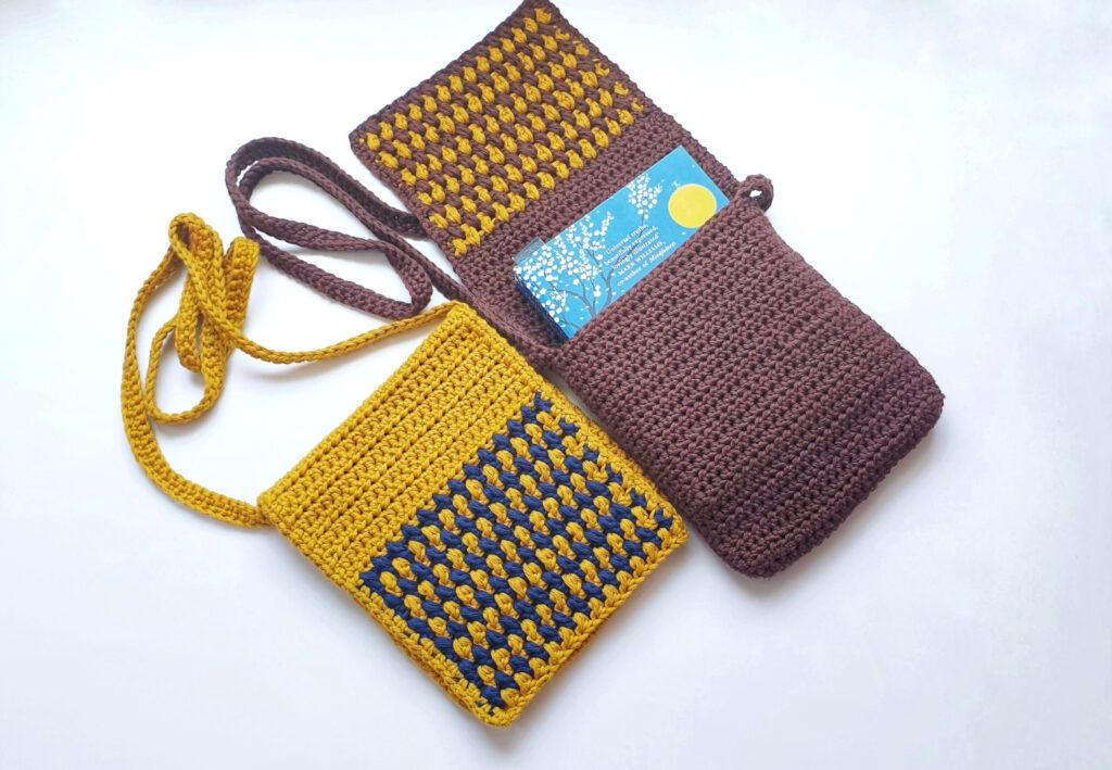 Puff Stitch Crochet Flap Bag (1)