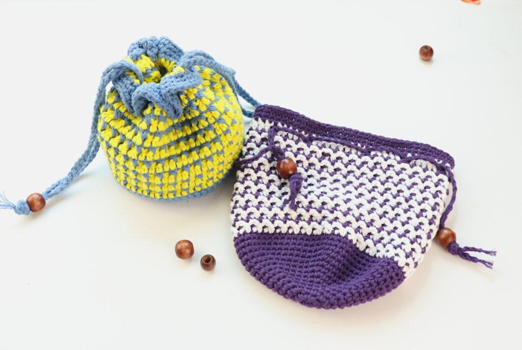 Crochet Drawstring Bag 2